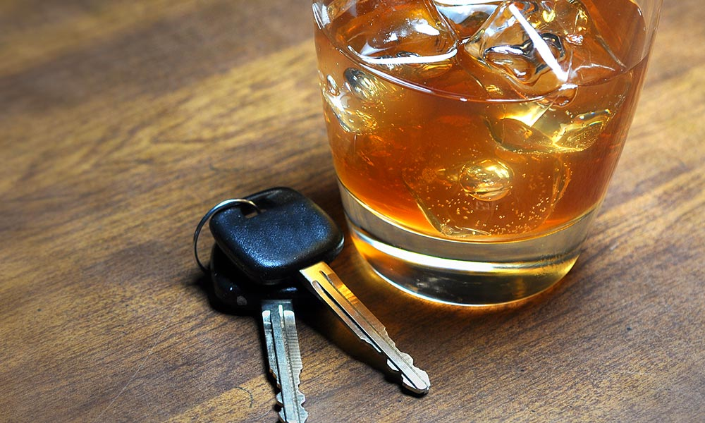 Car keys and drink